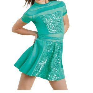 Teal weissman dance costume